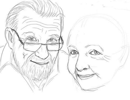 Як намалювати олівцем людей схеми для початківців 35