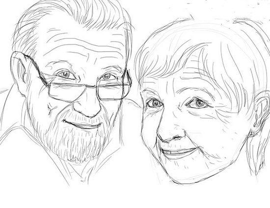 Як намалювати олівцем людей схеми для початківців 36