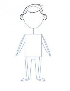 Як намалювати олівцем людей схеми для початківців 4 2
