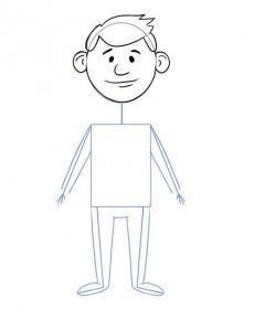 Як намалювати олівцем людей схеми для початківців 5