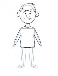 Як намалювати олівцем людей схеми для початківців 6