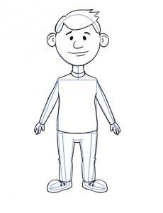 Як намалювати олівцем людей схеми для початківців 7