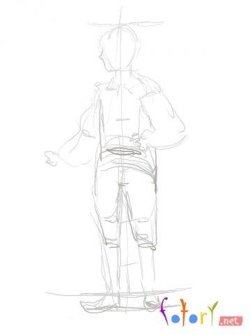 Як намалювати олівцем людей схеми для початківців 9