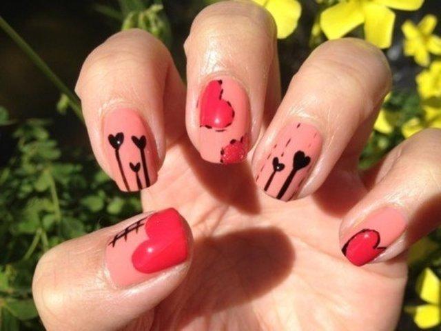 Манікюр фото ідеї на день Валентина. Підбірка