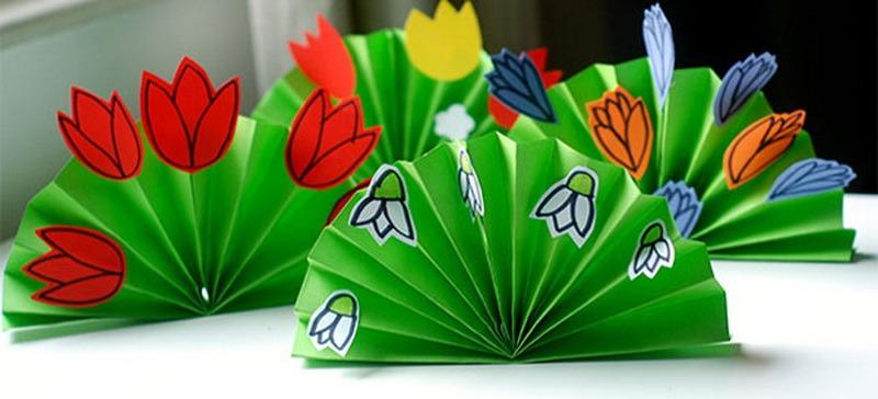 Днем, открытка гармошка своими руками на 8 марта