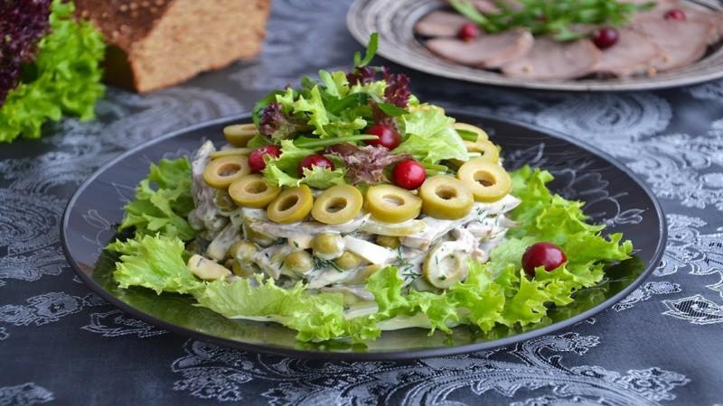 Салат з язика – оригінальні та дуже смачні рецепти