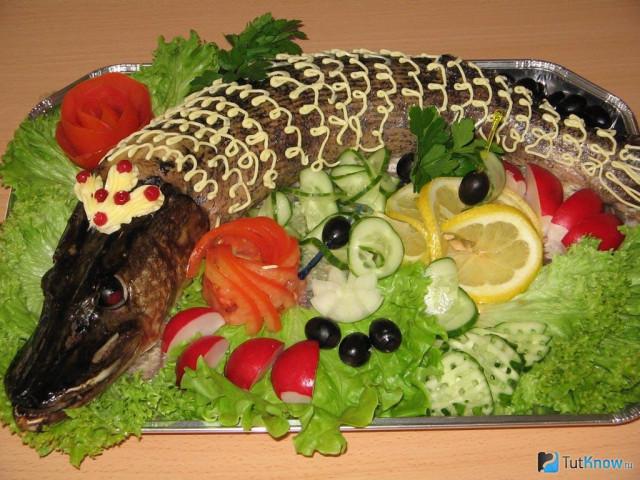 Фарширована риба – рецепти приготування