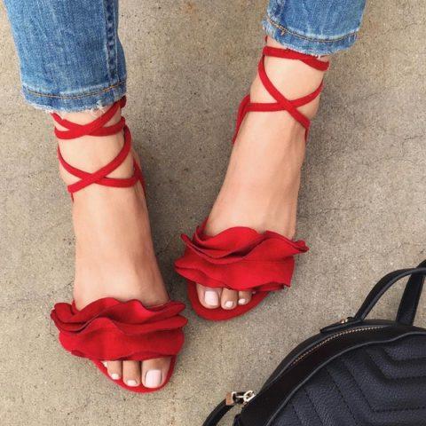 Модне жіноче взуття весна-літо  високі зав язки 5522ad62595a3